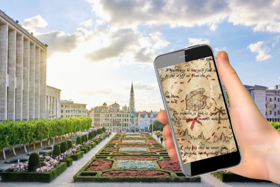 outdoor escape game with phone in brussels